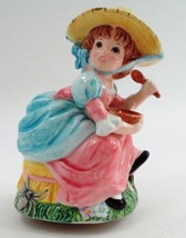 Lefton Porcelain Little Miss Muffet & Spider Nursery Rhyme Figural Music Box - $26.68