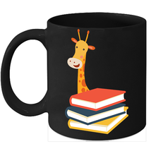 Giraffe Face Mugs Book Nerd Graphic Coffee Mug Animal Gifts - $15.95