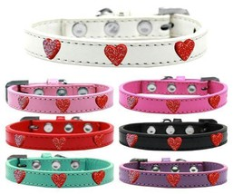 RED GLITTER HEARTS Dog Collar * 7 Colors * Valentines Day Puppy Charms W... - €8,77 EUR+
