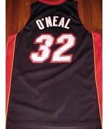 Reebok NBA Southeast Miami Heat Shaquille O'Neal 32 Black Red Swingman J... - $59.39