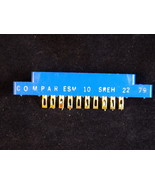 COMPAR 10 PIN gold plated card slot connector ESM 10 SREH 22 79 NICE! - $17.49