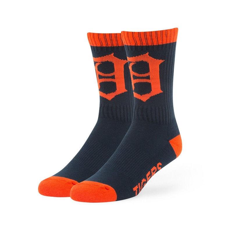 Detroit Tigers Men's Socks MLB Bolt Moisture Wicking Large 9-13