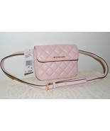 NWT $158 MICHAEL KORS Sloan Quilted LEATHER Bel... - $121.42