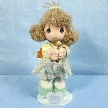 Precious Moments Doll by Applause 1990 with Umbrella, Stand, and Tag 182... - $13.75