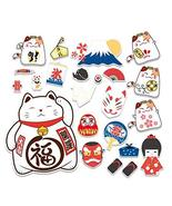 23 Pcs Lucky Cat Sticker Japanese Style Cartoon Sticker Luggage Helmet L... - $16.61