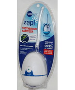 Zapi Vio Light Toothbrush Sanitizer UV Light Kills Germ Free White VIO80... - $14.95