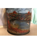 Small Milk Can Painting, Summer Country Scene, Hand Painted, Vintage Can - $245.00