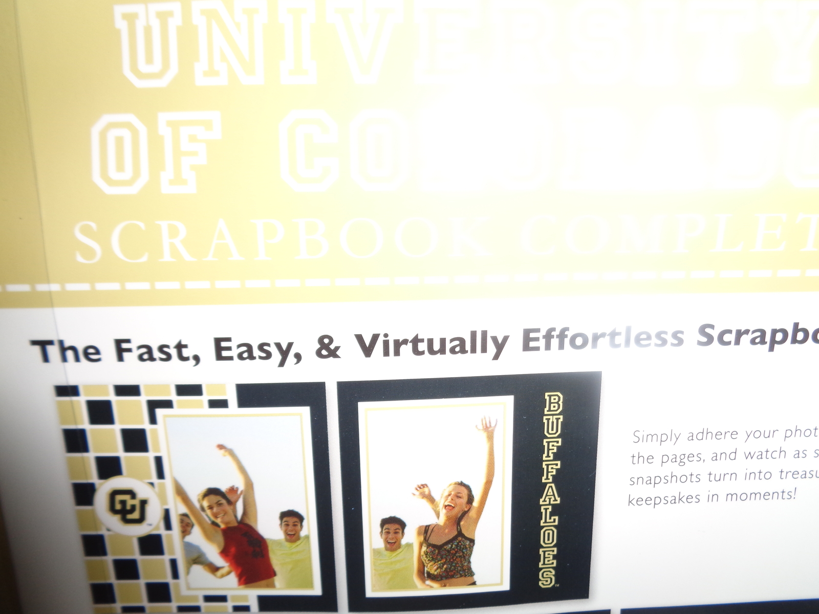 University of Colorado Complete Scrapbook NWT Fast Easy Collegiate Licensed