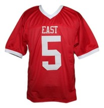 Vince Howard #5 East Dillon Lions Men Football Jersey Red Any Size image 4