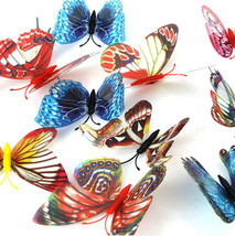 Lot of 10 Vinyl Glow in the Dark 3D BUTTERFLIES... - $4.99