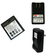 replacement battery & Charger for tmobile Samsung Galaxy s2 II SGH-T989 ... - $19.34