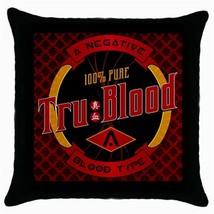 True Blood Logo Black Cushion Cover Throw Pillow Case - $281,89 MXN