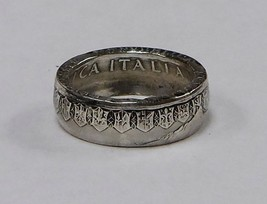 """Coin ring """"Handmade"""" from 500  LIRE ITALIAN COI... - $34.99"""
