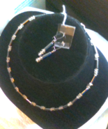 Hematite and Crystal Necklace - $12.00