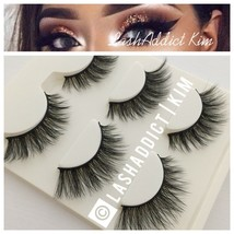 3 Pairs MINK Lashes Eyelashes Flutterly Wsp 3D MAKEUP FUR - USA seller NEW - $8.99