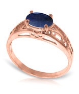 Brand New 14K Solid Rose Gold Filigree Ring with Natural Sapphire - $256.39