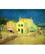 100% Hand Painted Oil on Canvas - The Yellow House (Vincent's House by V... - $226.71