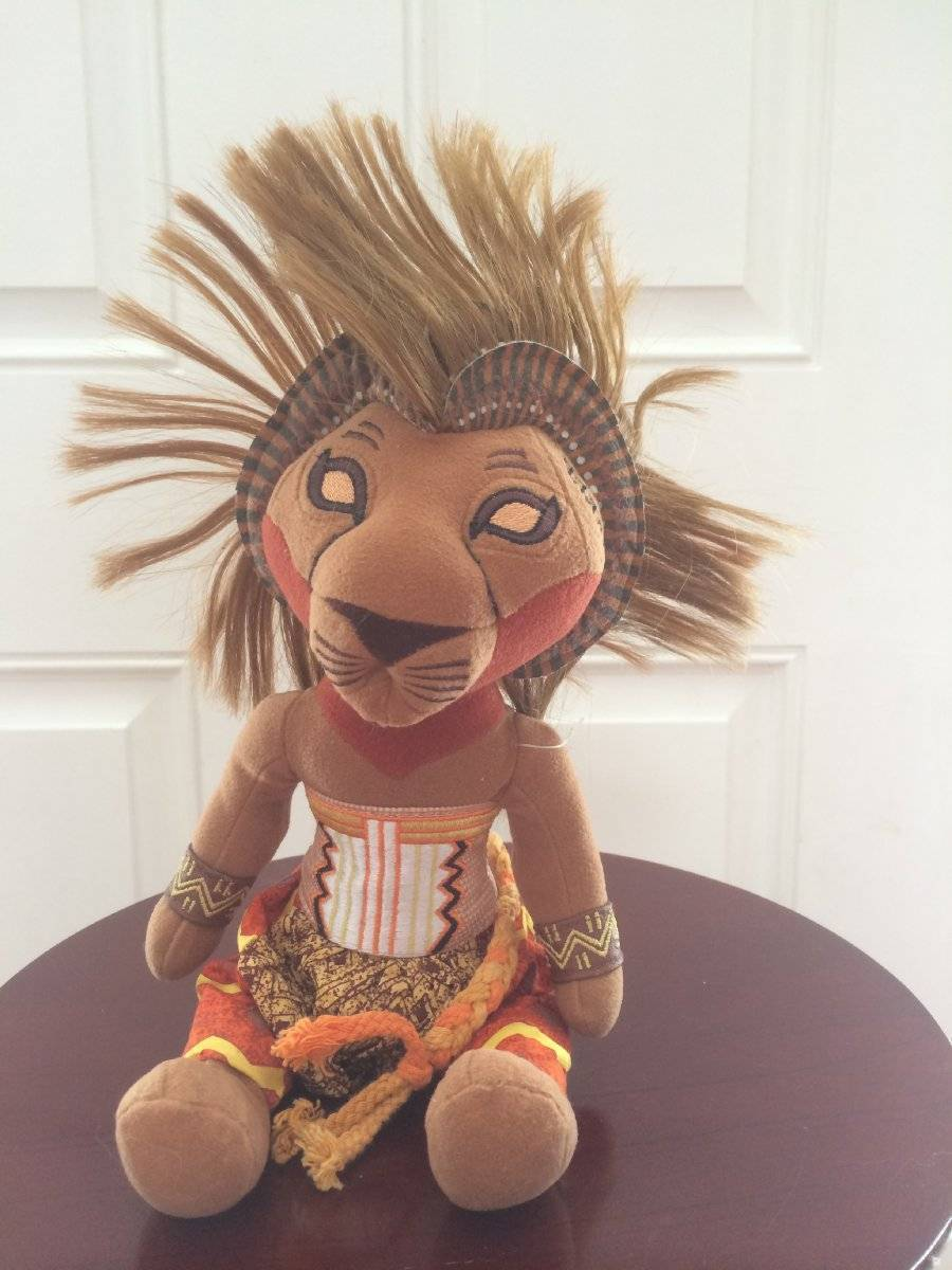 "Primary image for Disney Lion King Broadway Musical SIMBA Bean Bag Plush 11"" African Tribal"