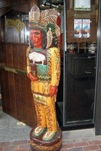 """2.5 Ft """"Cheers"""" TV Show CIGAR STORE INDIAN Wooden Replica - F Gallagher ... - $769.00"""