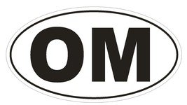 OM Oman Country Code Oval Bumper Sticker or Helmet Sticker D1065 - $1.39+