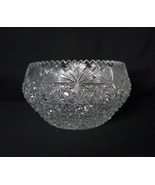 Stunning Lead Crystal Bowl Heavy Cut American Brilliant Period Artist Si... - $599.00