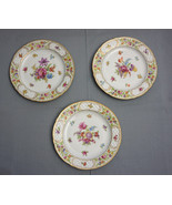 "Dinner Plates 10 1/8"" SCHUMANN Bavaria EMPRESS DRESDEN FLOWERS LOT OF 3 - $180.00"