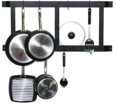 Pot Rack Wall Mount Kitchen Hanger Hooks Cookwa... - $67.12