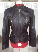 ICEBERG Women's Brown Leather Jacket Bomber SIZE S - $335.32