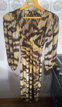 ROBERTO CAVALLI Tiger Print Yellow Brown Dress Size 38 4 - £299.70 GBP