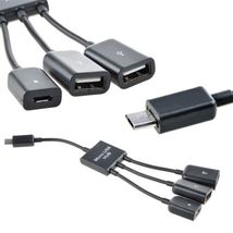 10 Pack - 3 in 1 Micro USB HUB OTG Adapter Cable for Smartphone & Tablet  - $44.69
