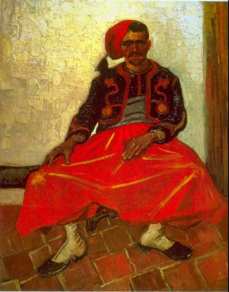 100% Hand Painted Oil on Canvas - Zouave - 30x40 Inch