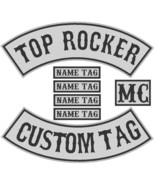 "Custom Embroidered 12"" Full Vest Set Rocker Patch Biker Patch (B) - 7 PC - $51.89+"