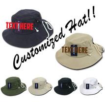 CUSTOM EMBROIDERY Personalized Customized Decky Australian Bucket Hat Hats 510 - $23.19+