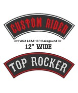 "Custom Faux Leather 12"" Top Rocker Biker Outlaw MC Club Vest Sew on Patch - $19.17"