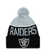 New Era NFL 2015 Sport Game Oakland Raiders Knit  Hat  Beanie Pom pom   ... - $28.04