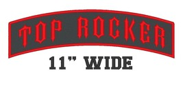 """Custom Embroidered 11"""" Top Rocker Motorcycle Biker Name Tag Sew on Patch... - $13.56"""
