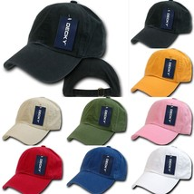 DECKY Plain Blank Curved Bill Washed Polo Adjustable Baseball Cap Caps Hat 960 - $11.99