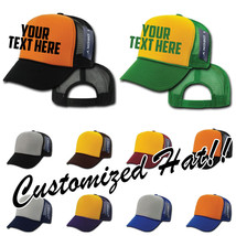 CUSTOM EMBROIDERY Personalized Customized Decky Industrial Mesh Snapback Cap 212 - $15.79+