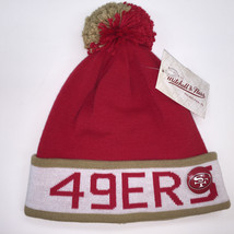 Mitchell & Ness NFL San Francisco 49ers Vintage Black Pom Knit Beanie 9951 - $18.59