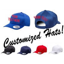CUSTOM EMBROIDERY Personalized Customized Yupoong Flexfit Adjustable Cap... - $18.52+