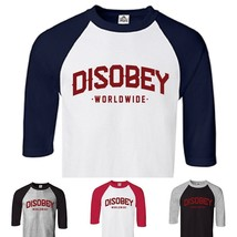 CUSTOM Vendetta Disobey T shirt 3/4 Raglan Baseball Shirt - Personalize ... - £9.06 GBP+