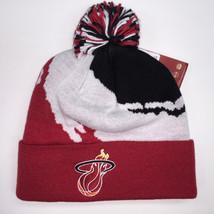 Mitchell & Ness NBA Miami Heat Cuffed Pom Knit Beanie 10388 - $18.59