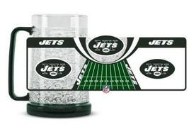 Duck House Sports NFL New York Jets Crystal Freezer Mug 5363 - $15.79