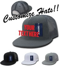 CUSTOM EMBROIDERY Personalized Customized Decky Terry Trucker Snapback Cap 1081 - $18.52+