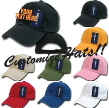 Custom Embroidery Personalized Customized Decky Washed Polo Curve Cap 960 - $17.59+