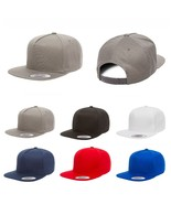 Yupoong Flexfit 5 Panel Cotton Twill Snapback Cap Hat 6007 - $14.99