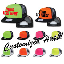 CUSTOM EMBROIDERY Personalized Customized Decky Neon Trucker Snapback Cap 222 - $15.79+