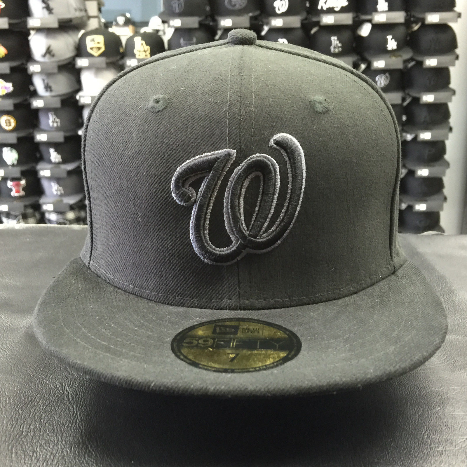 New Era 59Fifty MLB Washington Nationals Black Gray Basic Fitted Cap