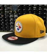 New Era 9FIFTY Pittsburgh Steelers Gold/Black Adjustable Snapback Cap Ha... - $28.04
