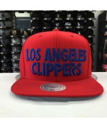 Mitchell & Ness NBA Los Angeles Clippers Red Blue Adjustable Snapback #9938 - $23.26